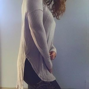 Free people waffle stretch tunic top S